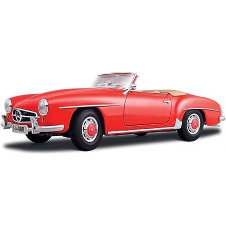 MAISTO 31824 1955 MERCEDES BENZ 190 SL CABRIOLET 1//18 DIECAST MODEL CAR RED