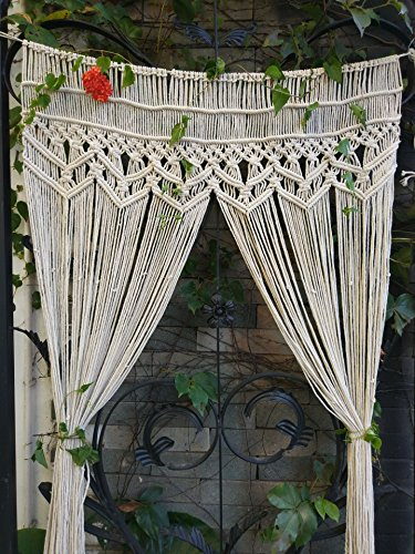 """RISEON Macrame Wall Hanging Tapestry- Macrame Door Hanging,Room Divider,Macrame Curtains,Window Curtain, Door Curtains, Wedding Backdrop Arch Boho Wall Decor, 35"""" W x 70"""" L"""