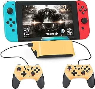 Switch ドック スイッチ 充電スタンド ニンテンド ポータブルusbハブスタンド4ポートfor Nintendo Switch/Nintendo Switch Lite対応(イエロー)