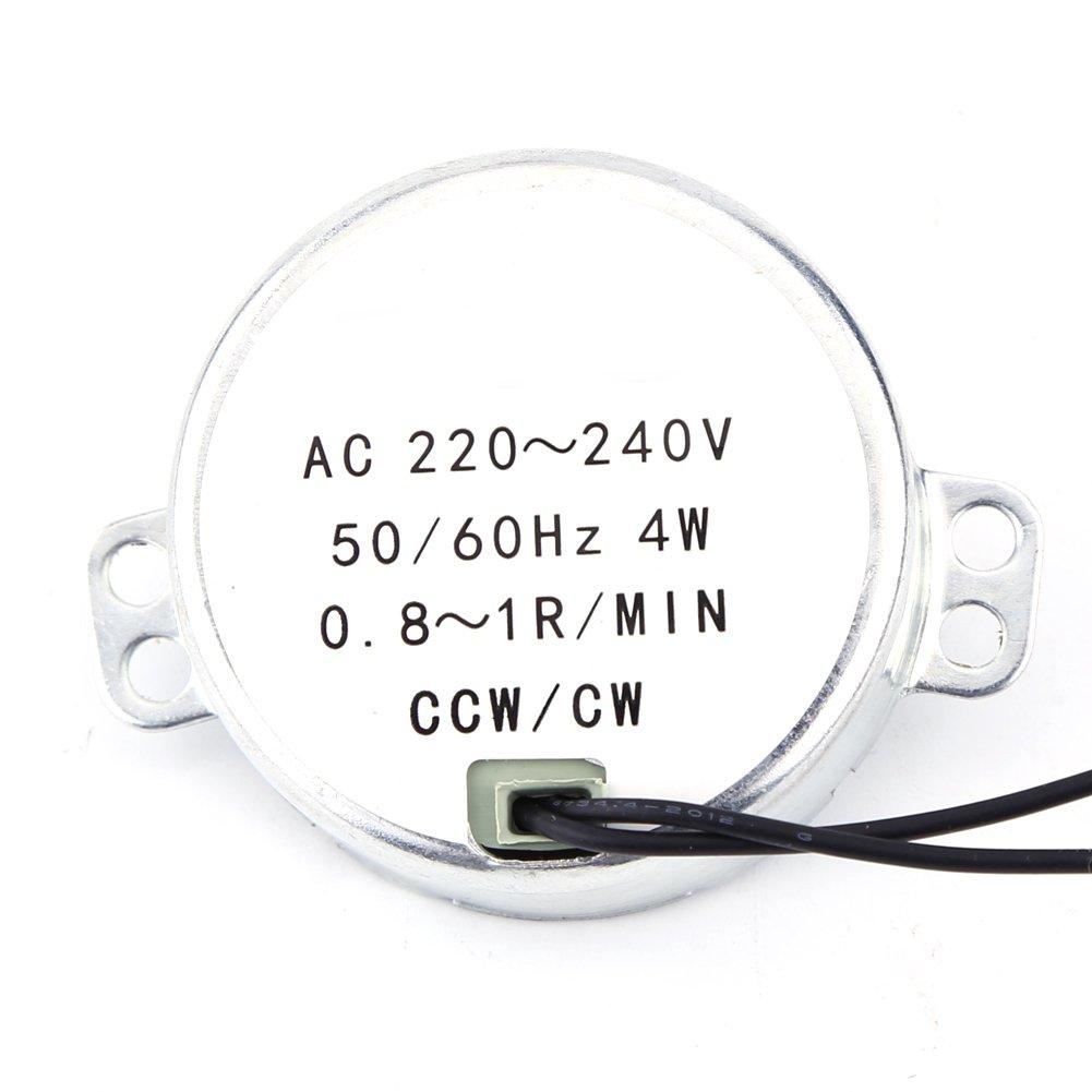 Motor eléctrico de bajo consumo eléctrico con imán permanente de 4 W y función de protección contra sobretensiones para ventilador eléctrico, calefacción (0,8 – 1 RPM)