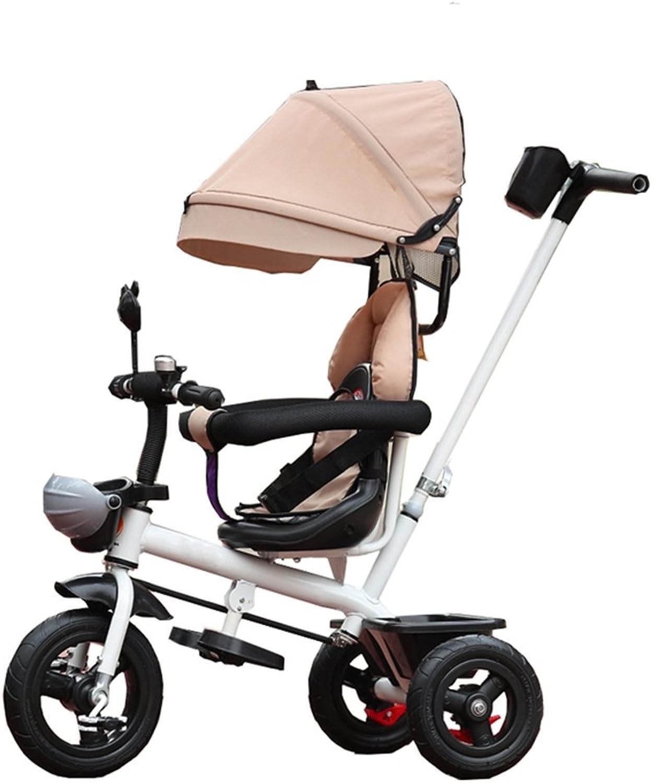 nueva gama alta exclusiva Neumático de Triciclo   Triciclo Infantil 4 en 1 1 1 para 6 Meses a 6 años Asiento de Niño y niña Puede Girar con toldo  tienda de venta