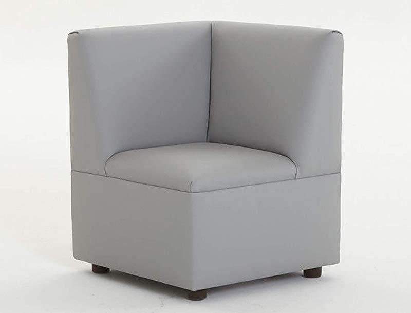 Brand New World Furniture FM0260 211 Modern Casual Enviro Child Corner Chair Gray Gray