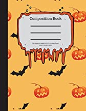 Composition Book 100 Sheet/200 Pages 8.5 X 11 In.-Wide Ruled- Scary Pumpkins Bat: Halloween Notebook for Kids - Student Jo...