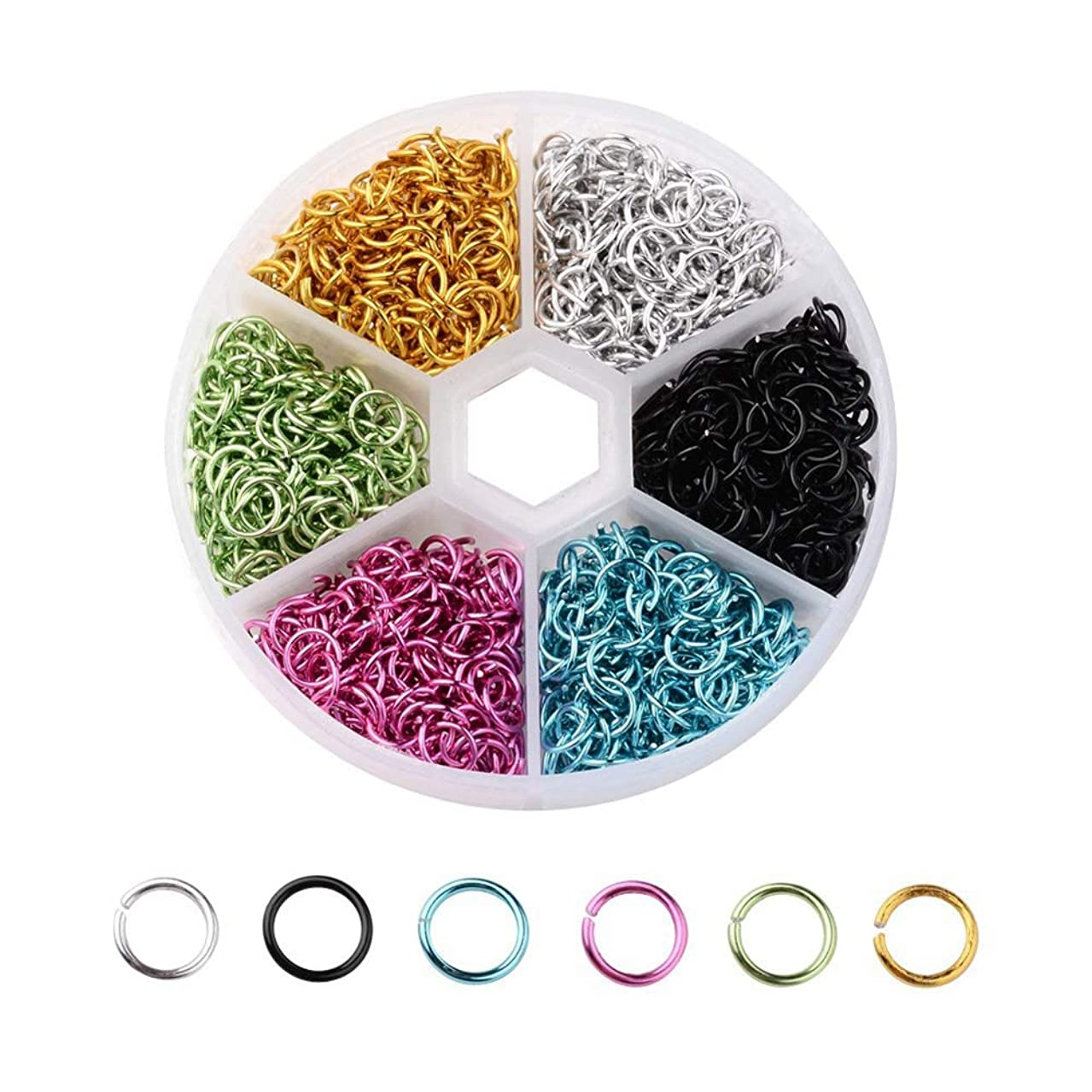 SUPVOX 1080pcs Open Jump Ring for DIY Jewelry Making Accessories Connector Mixed Color