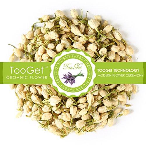 TooGet Fragrant Natural Jasmine Buds Pure Dried Jasmine Flowers Wholesale Herbal Tea - 2 OZ