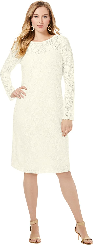Jessica London Women's Plus Size Lace Shift Dress