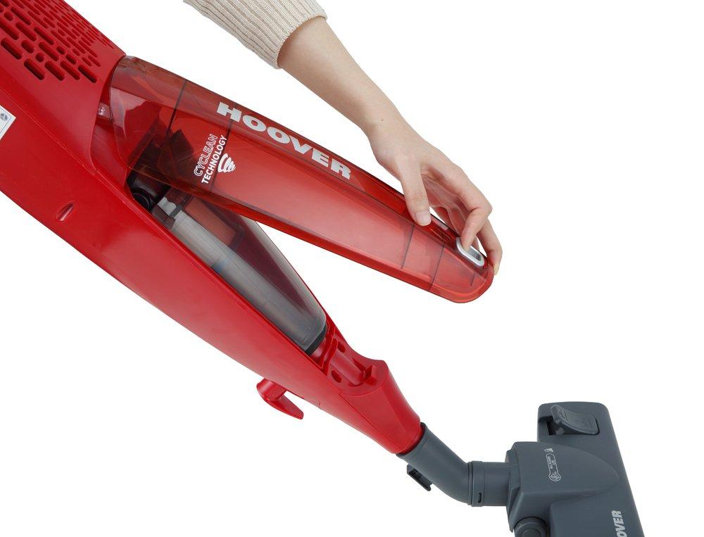 Hoover SR71_SB02 011 aspiradora de pie y escoba eléctrica Sin bolsa Gris, Rojo 0,7 L 700 W - Aspiradora escoba (Sin bolsa, Gris, Rojo, 0,7 L, De plástico, Secar, EPA): Amazon.es: Hogar