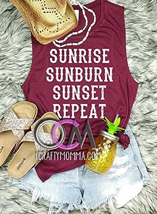 bc823e00060a9 Sunrise Sunburn Sunset Repeat Tank
