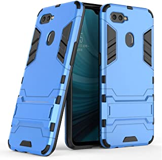 Oppo A7 Hybrid Case, Oppo A7 Shockproof Case, Dual Layer Protection Hybrid Rugged Case Hard Shell Cover Kickstand 6.2'' Oppo A7