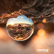Emopeak Photograph Lens Ball 80mm with Wood Stand/Velvet Pouch, Original K9 Clear Crystal Ball, Luxury Lens Ball, Photography Accessory, 3.2