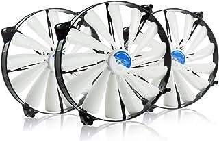AABCOOLING Super Silent Fan 20-200mm Ventilateur pour Boîtier Silencieux et Efficace avec 4 Pads Anti Vibrations, 12V, Ven...