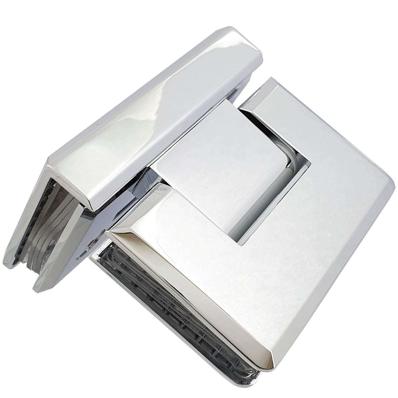 90 Degree vidrio Bisagra mampara de ducha | Cobre sólido cromado | Tapere: Amazon.es: Bricolaje y herramientas