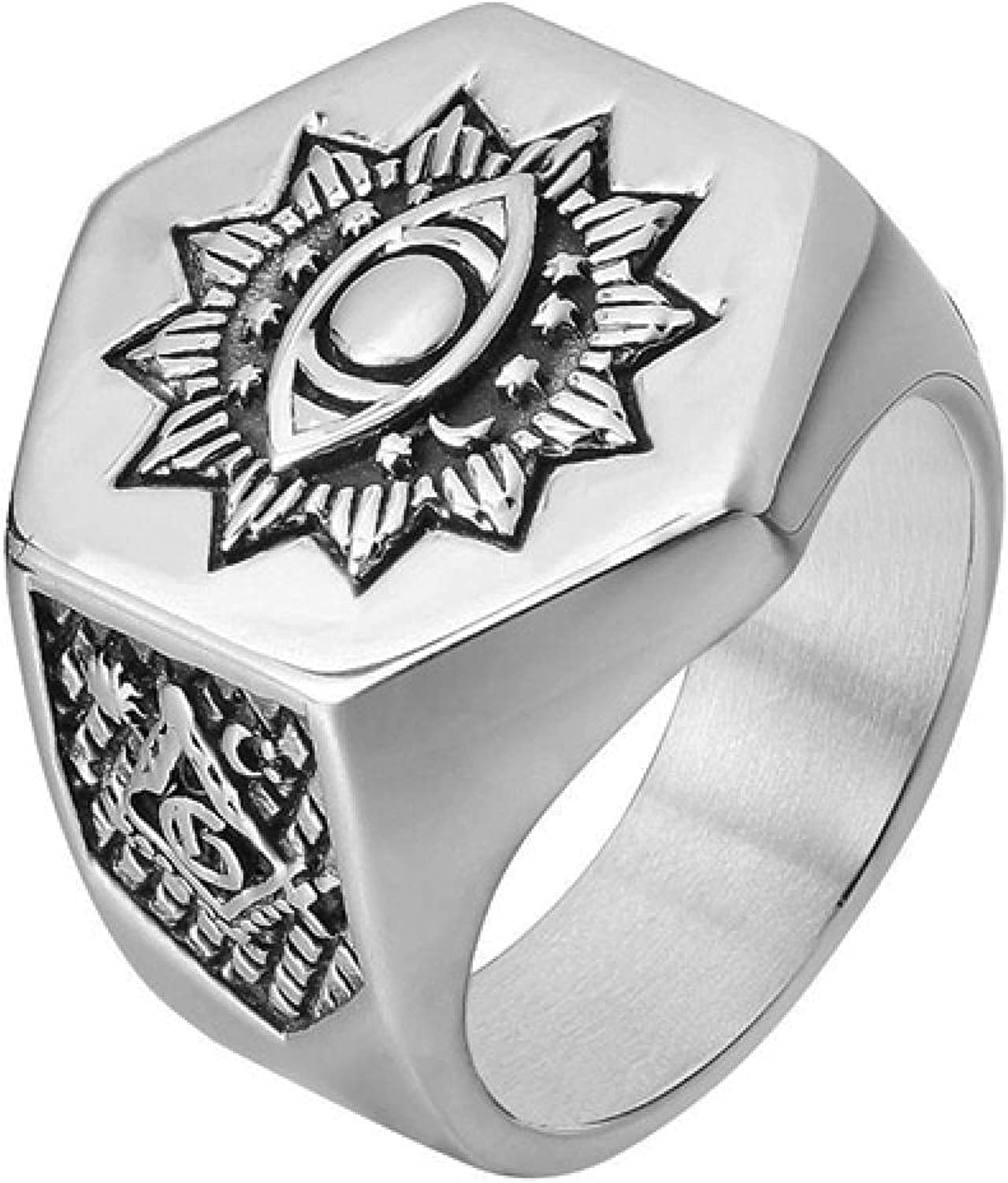Eye SEAL limited product Ring Men's 316L Stainless Steel Rings Heavy Limited price sale Metal AG Masonic