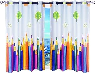 MYRU 1 Pair Dining Room Short Curtains, Childrens Room Darkening Curtains for Kids Room (47