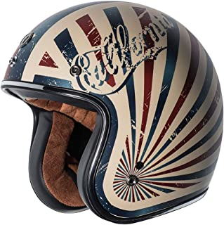 TORC T50 Route 66 Dreamer Open Face Helmet (Flat White, X-Large)