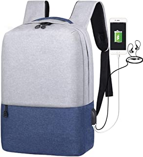 Students Anti Theft Backpack - USB Charging 14inch Laptop Backpacks for Teenager Male Theftproof Leisure Computer Shoulder...