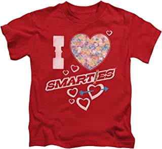 Smarties I Heart Smarties Unisex Youth Juvenile T-Shirt for Girls and Boys
