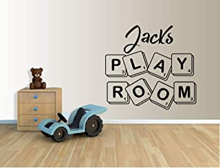 N.SunForest Personalized Name with Scrabble Tile Wall Art Sticker Bedroom Nursery Play Room