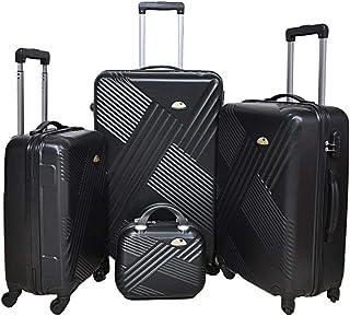 New Travel Luggage Trolley Set of 4Pcs - Black