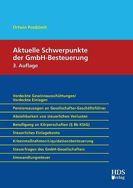 Aktuelle Schwerpunkte der GmbH-Besteuerung (German Edition)