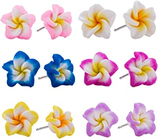 hawaiian flower earrings