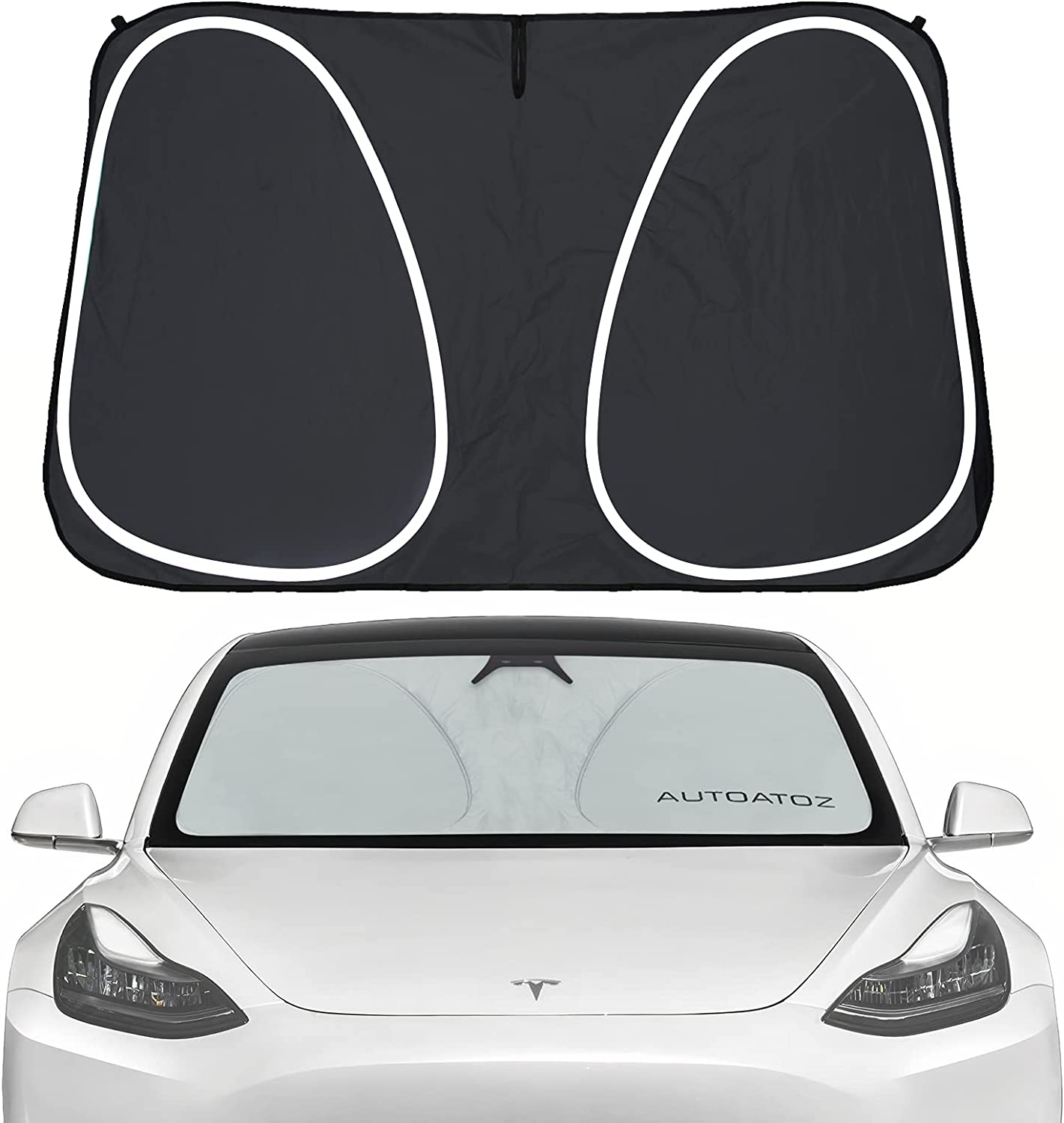 Windshield Sunshade Fit for Tesla Model Bombing new work Front 3 Car Genuine Y Wind