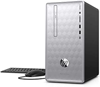 HP Pavilion 590 Desktop Computer, 8th Intel 6 Cores i5-8400, 2.8GHz up to 4.0GHz, 12GB RAM and 16 GB Intel Optane Memory, ...