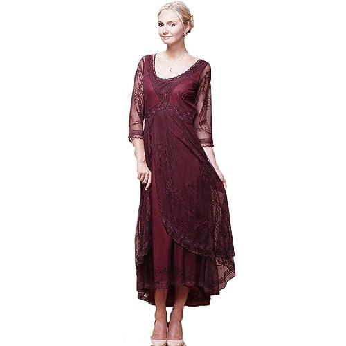 2739ad47702 Womens Downton Abbey Tea Party Gown Antique Dress