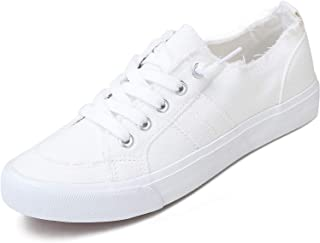 Women's Play Fashion Sneaker White Color Washed and...