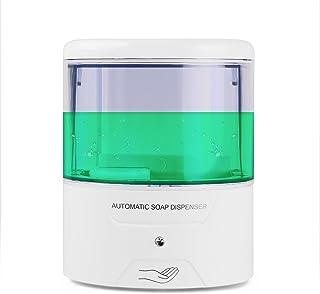 Para instalación en pared dispensador de jabón automático Sensor de infrarrojos dispensador de jabón automático Touchless encimera dispensador de jabón recargable con 600ml