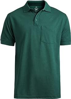 Edwards Garment Big And Tall Short Sleeve Pique Polo Pocket Shirt_HUNTER_4XLT