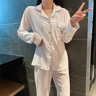 Cálidos Pijamas para Mujer,Pijama De Solapa De Invierno Suave Estampado De Mariposa De Terciopelo Blanco Espesado De Las Mujeres Calientes Conjuntos De Pijamas De Punto Sexy para Damas Regalo De Na