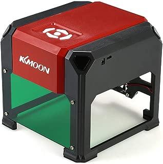 KKmoon 自動 K5タイプ 3000mW 高速レーザー彫刻機 USB DIY彫刻機 手作りウッドバーニングツール 80×80mm大彫刻エリア WIN XP / 7/8/10適用 (赤)