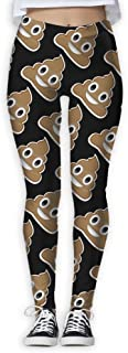 Funky Poop Funny Print Yoga Leggings Pants Quick Dry Capri Leggings