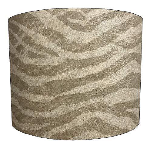 8 Inch taupe zebra print Ontwerp Lampenkap Voor een Plafond Licht