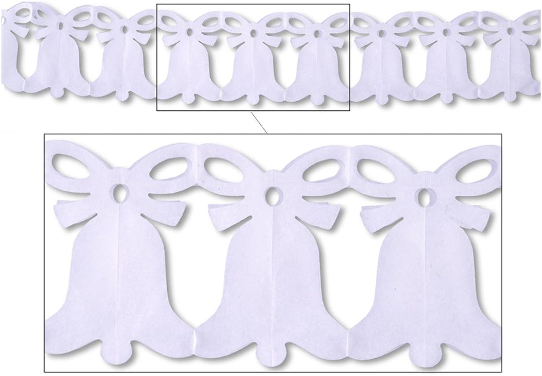 Beistle Party Dekoration Zubehr Westminster Bell Girlande wei 20,3cm X 12 12Stück