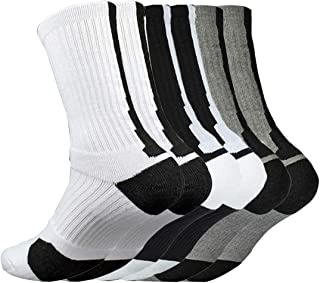 Litthing, Calcetines Deportivos Antideslizantes de Algodón para Hombre Desodorante Respirables para Baloncesto Fútbol Yoga de Balonmano Correr engrosamiento de Ciclismo