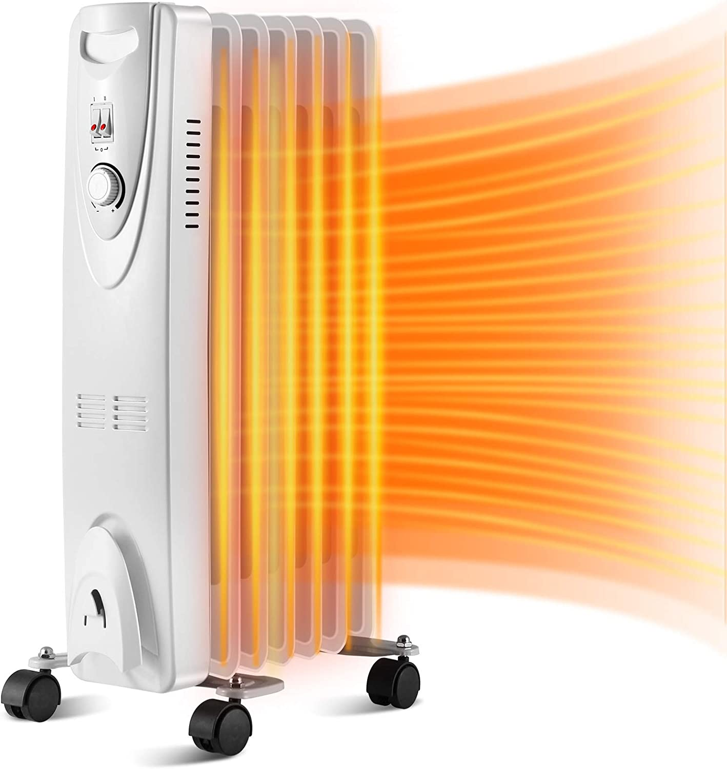 Antarctic Star Oil Filled Radiator Heater,1500W Portable Space ...