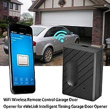 Wi-FI Télécommande Ouvre-Portes de Garage, Compatible Garage Door Opener Smart Phone Remote Control APP, Fonction de Temporisation