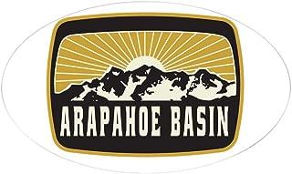 CafePress Arapahoe Basin Sunshine Patch Oval Bumper Sticker, Euro Oval Car Decal