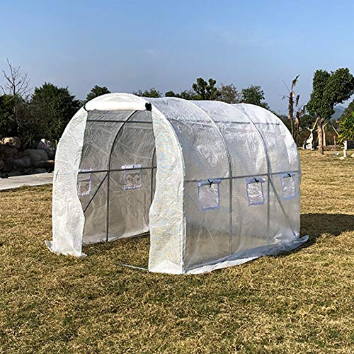 Invernadero Entrar Polytunnel Invernadero 3x2x2m, Tienda de Campaña de Cultivo de Plantas de Invierno de 6m² con Puerta y 6 Ventanas, Resistente para El Patio Trasero del Jardín Al Aire Libre