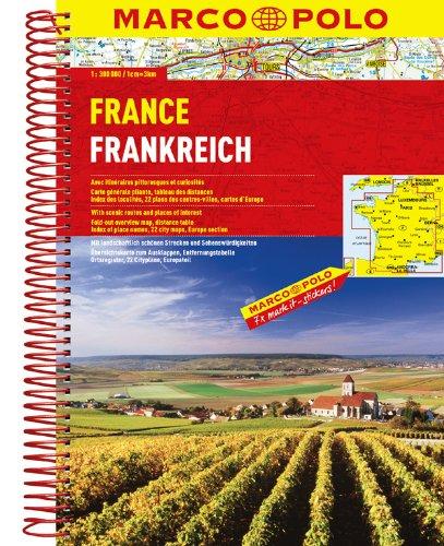MARCO POLO Reiseatlas Frankreich 1:300.000
