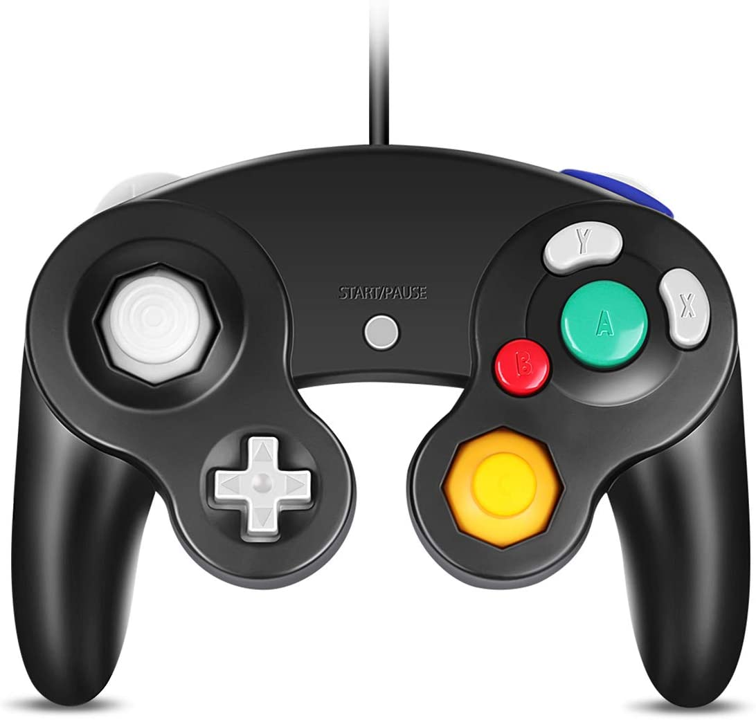VOYEE PC Controller, Replacement for Gamecube Controller, Compatible with Wired USB Gamecube Controller/PC Windows 7 8 10 (Black)