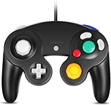 VOYEE GC Controller, Compatible with Wired USB Gamecube Controller for PC Windows 7 8 10 (Black)