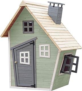 Outdoor Toys Casita Infantil de Madera Fantasy 102x120x150 cm Verde - KNH1015