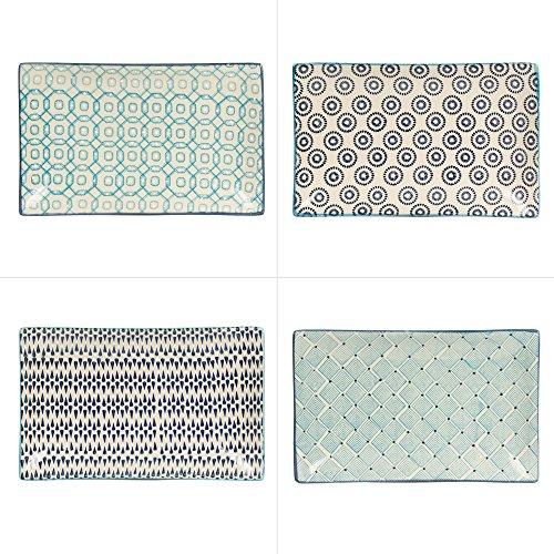 Table Passion - Plat rectangle adélie 29 x 17 cm (1 modèle aléatoire)