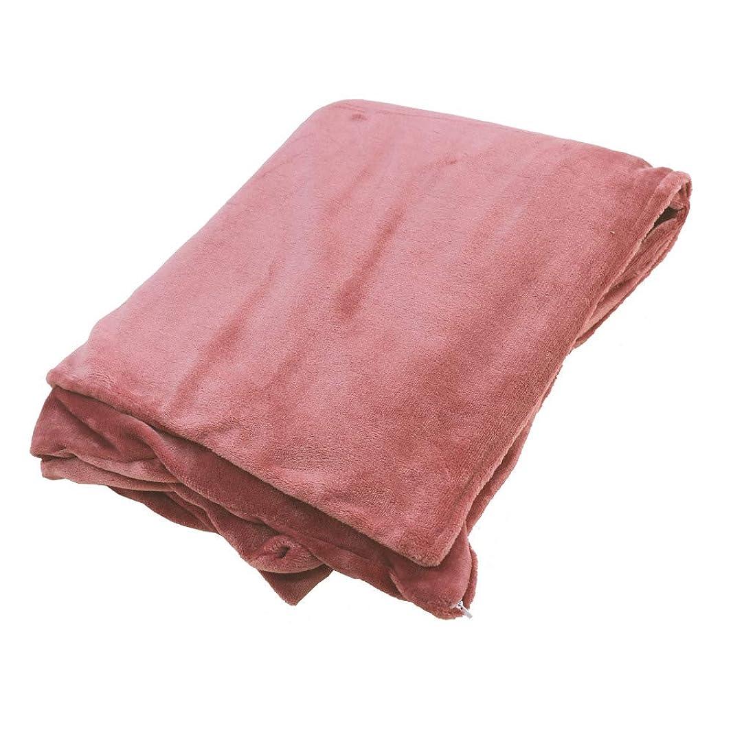 燃やす子豚魔女三幸 毛布にもなる あたたか掛けカバー ピンク ダブルロング なめらか フランネル カラー V609731-0022