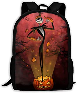 Business Travel Backpack Trendy Jack Skellington Camping Backpack for Mens Women