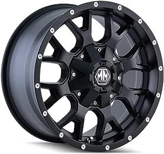 MAYHEM WARRIOR Wheel with MATTE BLACK (17 x 9. inches /5 x 127 mm, 18 mm Offset