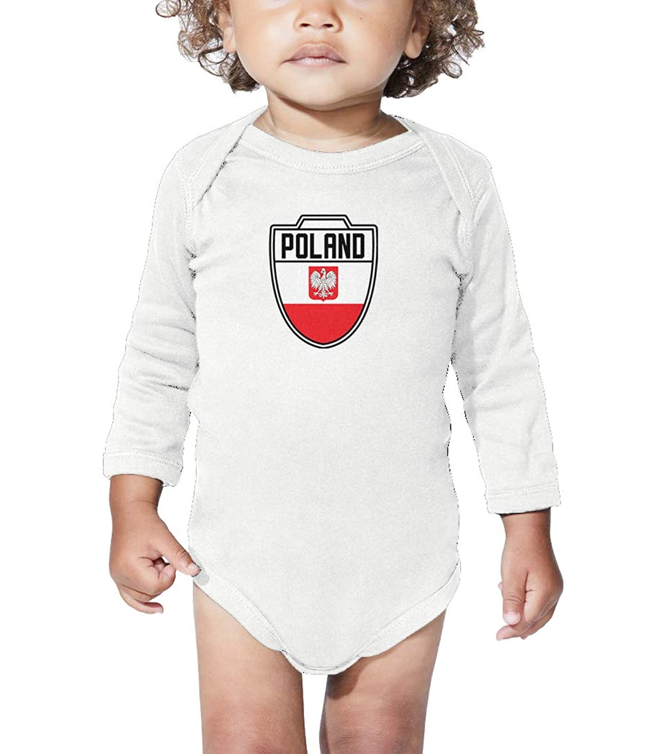 Poland - Country Soccer Crest Long Sleeve Bodysuit
